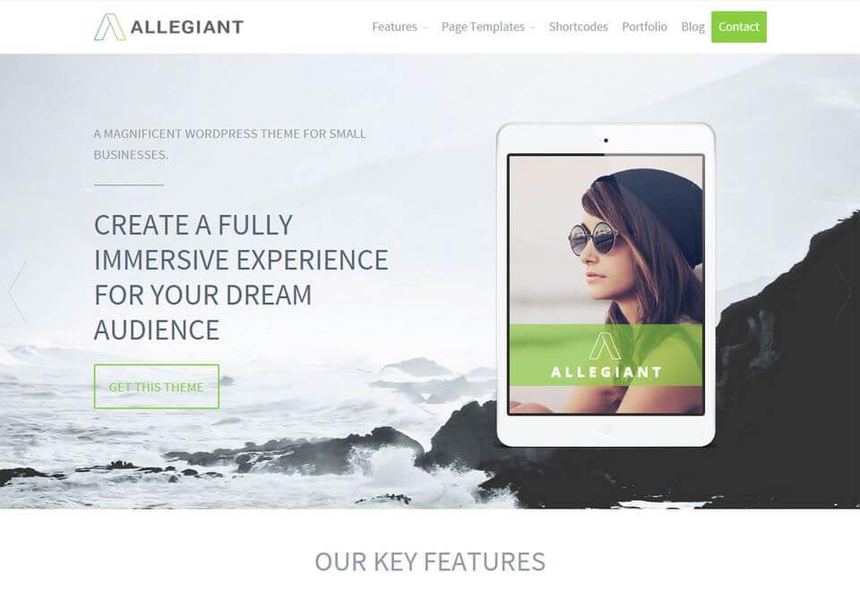 Best WordPress theme Allegiant