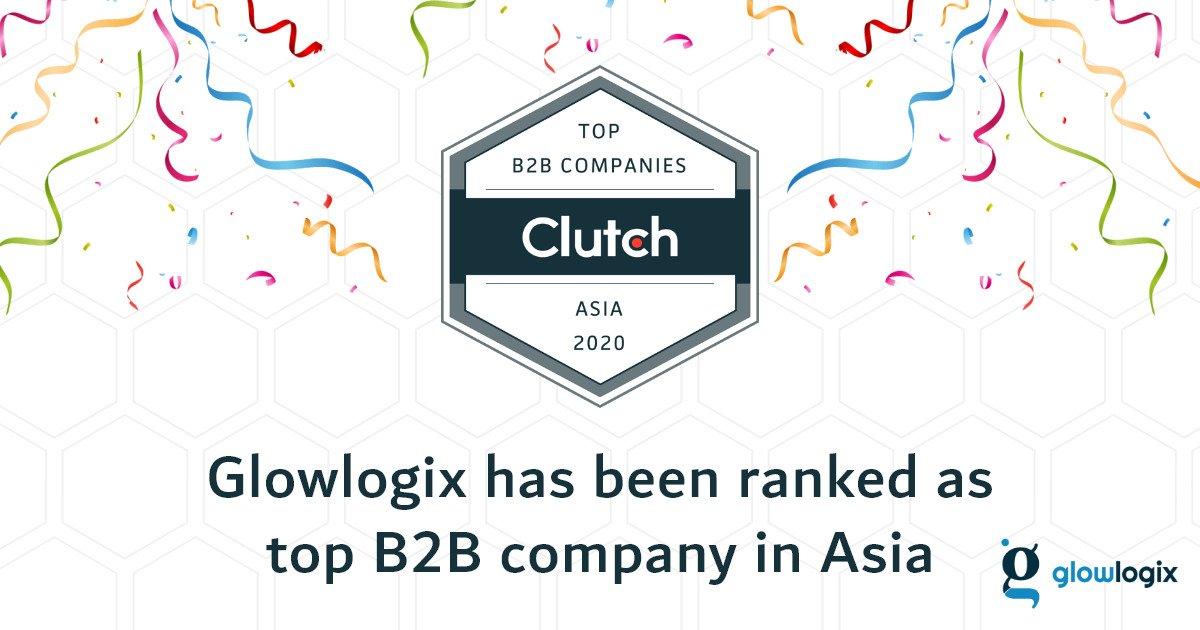 Glowlogix top B2B Company by CLUTCH