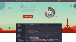 Atom text editor to develop websites