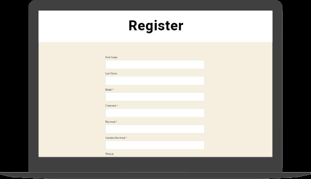 User Registration Section of Glowlogix