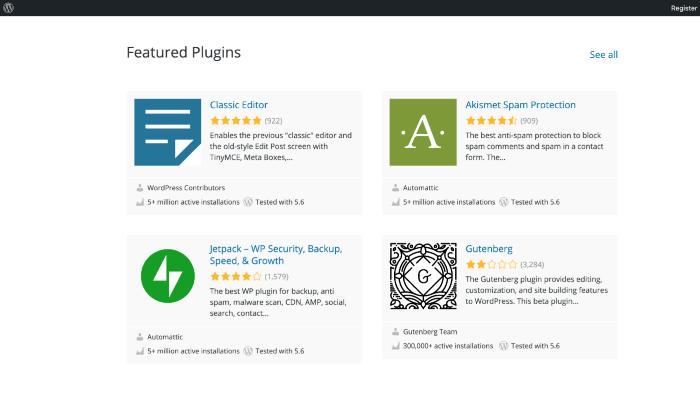 WordPress Website-Featured plugin